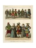 German Costume 1600 Giclee Print by Albert Kretschmer