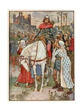 Robin Hood Is Thanked by the Peasants Giclee Print by Walter Crane