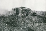 WWI British Tank in Action on the Western Front, 1917 Photographic Print by  English Photographer