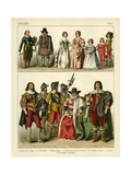English Costume 1600 Giclee Print by Albert Kretschmer