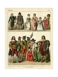 English Costume 1600 Giclee Print by Albert Kretschmer