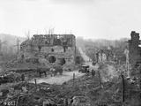 Jacques Moreau - Ruins of Tracy-Le-Val, Oise, 1917 Fotografická reprodukce