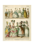French Costumes 1750-1800 Giclee Print by Albert Kretschmer