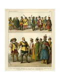 Miscellaneous Costumes 1600 Giclee Print by Albert Kretschmer