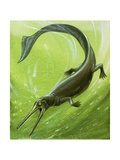 Pre-Historic Fish Giclee Print by David Nockels