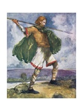 A Man of the Time of William II 1087-1100 Giclee Print by Dion Clayton Calthrop