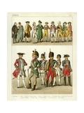 French Costume 1700 Giclee Print by Albert Kretschmer