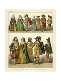French Costumes 1600 Giclee Print by Albert Kretschmer