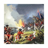 Battle of Fontenoy Giclee Print by Severino Baraldi