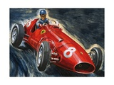 Alberto Ascari Driving a Maserati Giclee Print by  English School