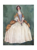 A Woman of the Time of Queen Anne 1702-1714 Giclee Print by Dion Clayton Calthrop