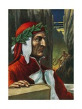 Dante Alighieri Giclee Print by Tancredi Scarpelli