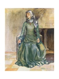 A Woman of the Time of William II 1087-1100 Giclee Print by Dion Clayton Calthrop