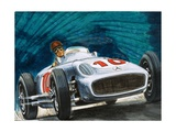 Juan Manuel Fangio Driving a Mercedes-Benz Giclee Print by  English School
