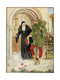 Robin Hood Coming to Kirklees Hall Giclee Print by Walter Crane