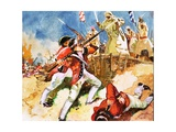 Indian Attack on the Garrison at Calcutta Giclee Print by Jose Miralles