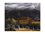 Golf Course, California, 1917 Giclee Print by George Wesley Bellows