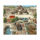 Zoo Giclee Print by Ronald Lampitt