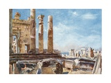 The Northern Portico of the Erechtheum Giclee Print by John Fulleylove
