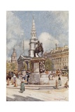 Charing Cross, with Statue of Charles I and St. Martin-In-The-Fields Giclee Print by John Fulleylove