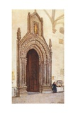 South Doorway of Cathedral, Palermo Giclee Print by Alberto Pisa