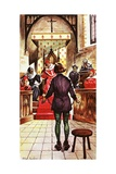 Joan of Arc Being Tried by a Church Court Giclee Print by Peter Jackson