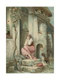 La Cigale Giclee Print by Emile Pierre Metzmacher