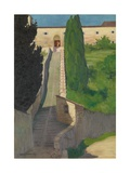 The Steps of the Convent of San Marco, Perugia, 1913 Giclee Print by Felix Edouard Vallotton