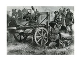 Firing a Cannon Giclee Print by Ron Embleton