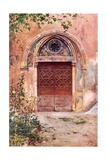 Doorway of the Monastery of S Benedict (Sagro Speco) at Subiaco Giclee Print by Alberto Pisa
