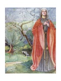 A Woman of the Time of John 1199-1272 Giclee Print by Dion Clayton Calthrop