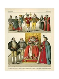 English Costume 1550-1600 Giclee Print by Albert Kretschmer