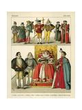 English Costume 1550-1600 Giclee Print by Albert Kretschmer