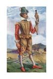 A Man of the Time of James I 1603-1625 Giclee Print by Dion Clayton Calthrop