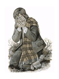 The Son of a Shepherdess Who Knelt and Wept for the Blood That Would Later Be Spilt at Culloden Giclee Print by Richard Hook