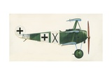 Fokker Dr 1 Triplane Giclee Print by  English School