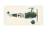 Fokker Dr 1 Triplane Giclee Print by  English School