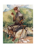 A Peasant of Early England 1216-1272 Giclee Print by Dion Clayton Calthrop