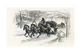 Dostoievski and His Fellow Prisoners Were Packed into Closed Sleighs for the Long Journey to… Giclee Print by Ralph Bruce