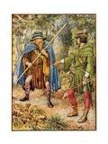 Robin Hood and the Beggar-Spy Giclee Print by Walter Crane