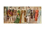 Costume of the Milanesi in 1598 Giclee Print by Tancredi Scarpelli