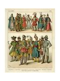 Slavonic Costume 1500 Giclee Print by Albert Kretschmer