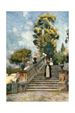 Steps of the Dominican Nun's Church of SS Domenico and Sisto Giclee Print by Alberto Pisa