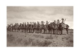 Canterbury Mounted Rifles on Parade, 1917 Giclee Print by Capt. Arthur Rhodes