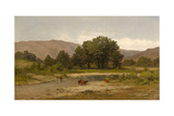 Cows Resting at the Meadow Brook, 1900 Giclee Print by Carl von Perbandt