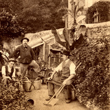 Gardeners, 1900 Photographic Print by  French Photographer
