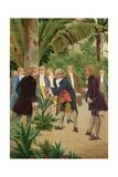 Carl Linnaeus Giclee Print by Josep or Jose Planella Coromina