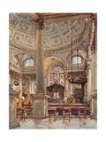Interior of St. Stephen's, Walbrook Giclee Print by John Fulleylove