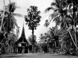 The House Tamberan of Kanganama on the Sepik River, Papua New Guinea, 1974 Papier Photo