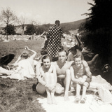 Eva Braun and Friends on Vacation, Bad Godesberg, 1937 Photographic Print by  German photographer